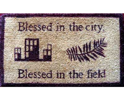 Blessed in the City - Blessed in the Field Doormat
